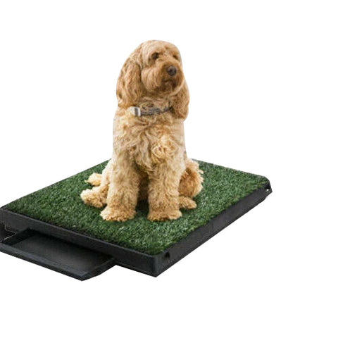 Dog Toilet Pet Training Indoor Portable 1/2/4 Grass Mat Optional Potty