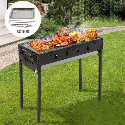 Charcoal BBQ Grill Protable Hibachi Outdoor Barbecue Set Camping Picnic Grills