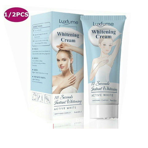 10 SECOND INSTANT WHITENING CREAM UNDERARM ARMPIT LEGS KNEES DARK SKIN BLEACHING