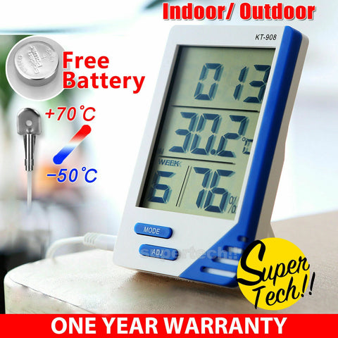 NEW Digital Thermometer Hygrometer Temperature Indoor Outdoor LCD Humidity Meter