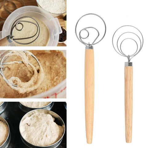 9/13In The Original Danish Dough Whisk Large Stainless Steel Dutch Whisk Kitchen