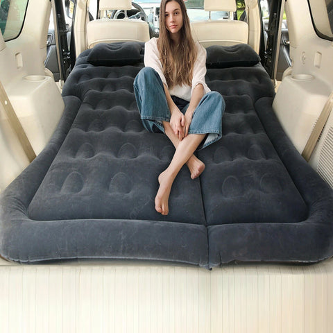 Inflatable Car Back Seat Mattress Protable Travel Camping Air Bed Rest Sleep
