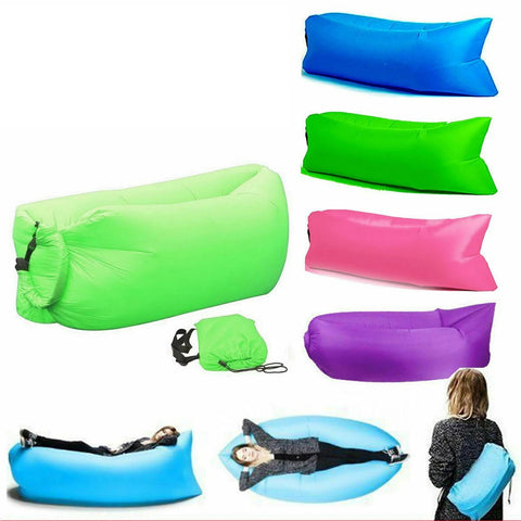 Air Beach Bed Sleeping Bag Lazy Chair Lounge Beach Sofa Bed Inflatable Camping