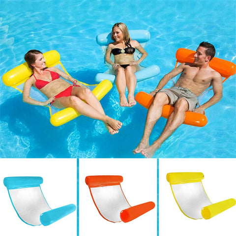 Portable Swimming Pool Toy Hammock Lounge Inflatable Water Floating Bed Chair AU