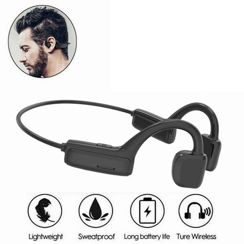 Bone Conduction Wireless Bluetooth5.0 Headset Stereo Headphone Earphone Sport AU
