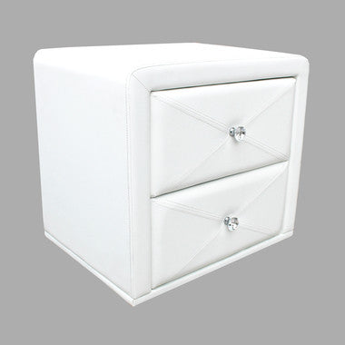 White PU Leather Bedside Table - OliandOla