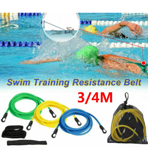 Swim Bungee Trainer Training Belt Resistance Leash Stationary Swimming System AU