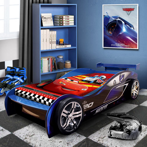 2020 JACKSON STORM Special Edition for Kids Racing Racer Night Bed Single Size #1200