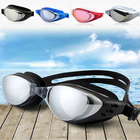 Swim Goggles Waterproof Anti-Fog UV Swimming Glasses Adult Adjustable
