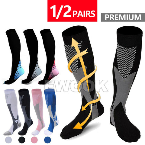 1 PairCompression Socks Copper Medical Stockings Travel Running Anti Fatigue Unisex