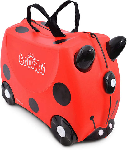 Red Harley Ladybird Ride-On Suitcase