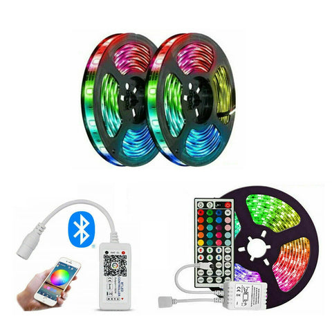 LED Strip Lights 5050 RGB Waterproof IP65 5M 12V 44key IR/BT Controller  Christmas Light