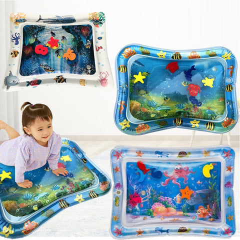 Baby Inflatable UE Time Sea World Toddlers Infants Water Play Mat Fun Tummy