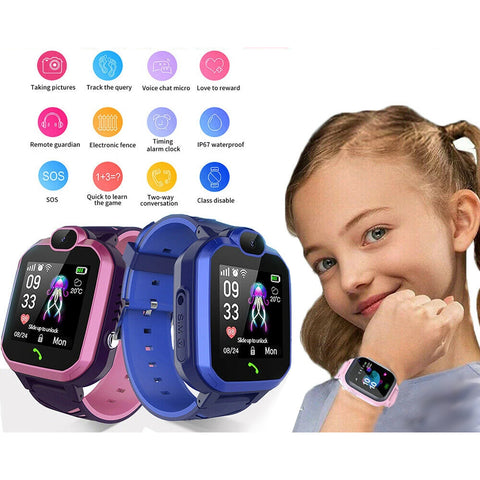 Smart Watch Kid Tracker Phone GSM SIM Alarm Camera SOS Call for Boy Girl Gift AU