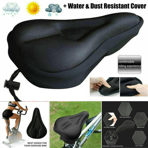 Bike EXTRA Comfort Soft Gel Pad Comfy Cushion Saddle Seat Cover Bicycle Cycle GD