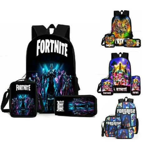Fortnite Backpack Lunch Bag Stationery Bagthree-Piece Student School Bag Gift AU