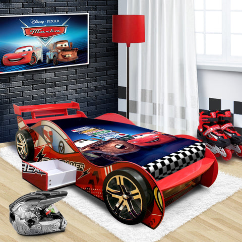 "2018-New Design ""Dreamer""  Kids Racing Car Bed Red"