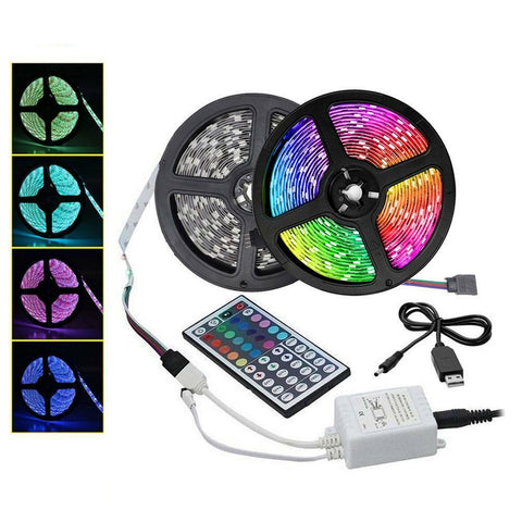 20M RGB 3528 LED Strip Lights With IR Remote Back Light 12V Colour Changing  Christmas Light