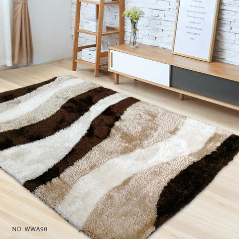 White Champagne Brown - Modern Soft Thick Shaggy Non Shed Rugs