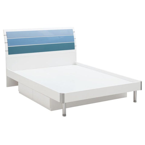 Blue Lover Boys King Single Bed Frame with Drawer