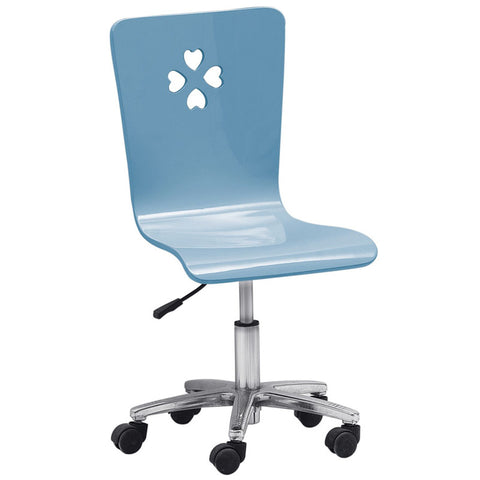 Blue Lover Kids Gas Lift Swivel Desk Chair in Blue