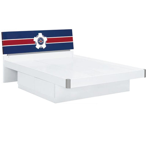 Sailor Boys Bedroom King Single Bed Frame with Drawer