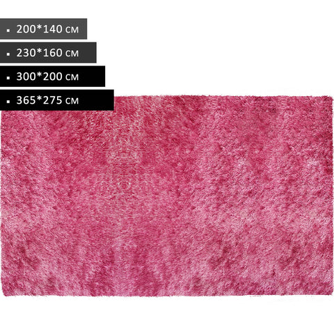 Rectangle Pink Shag Rug