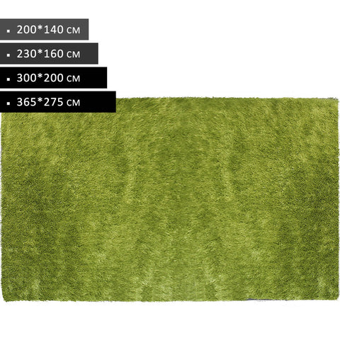 Rectangle Green Shag Rug