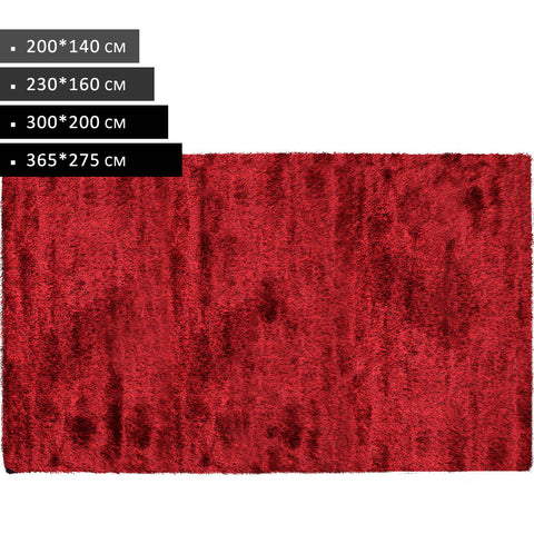 Rectangle Red Shag Rug