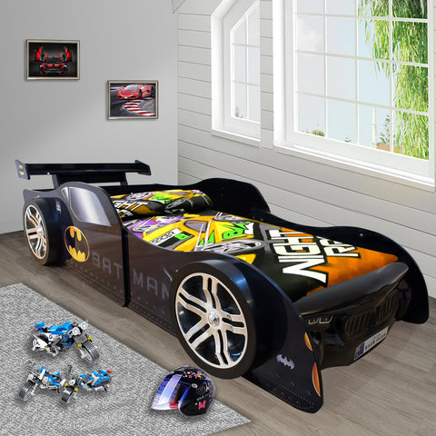 0.4 2019 Bat Man Special Edition for Kids Racing Racer Night Car Bed Single Size