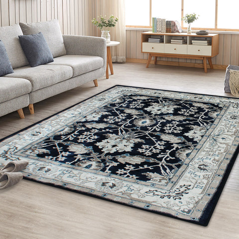 Blue Persian Style Floor Area Traditional Soft Rug Carpet