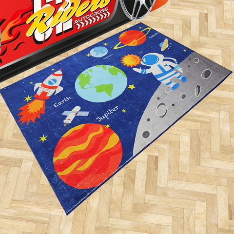 Oliandola 120x180cm Space Rug Matching Kids Racing Car Bed Model #1156b