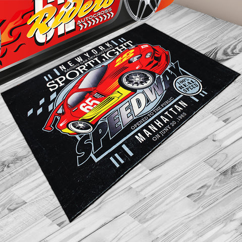 Oliandola 120x180cm Speedway Manhattan Rug Matching Kids Racing Car Bed Model #1156r