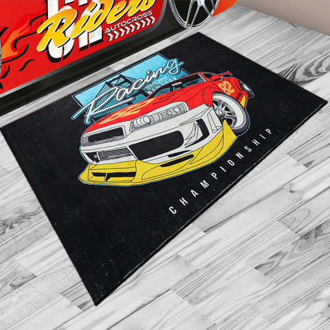 Oliandola 120x180cm Racing Championship Rug Matching Kids Racing Car Bed Model #1200