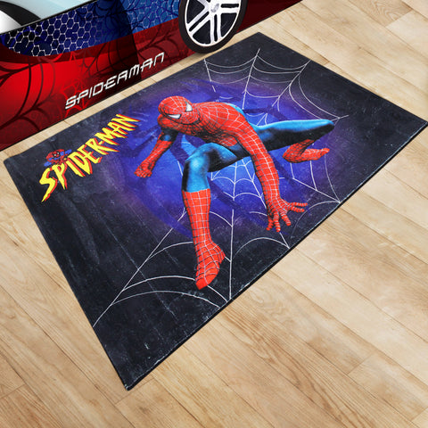 Oliandola 120x180cm Spider Man Rug Matching Kids Racing Car Bed Model #5520