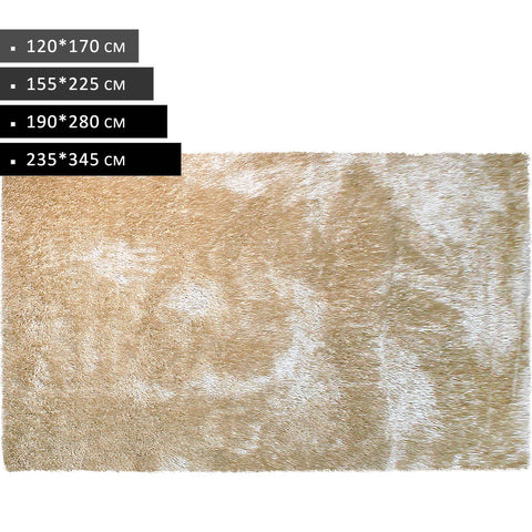 Camel - Modern Shaggy Non Shed Rugs