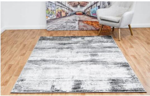 OliandOla New Designer Durable Floor Area Carpet CANNON 8306 Timeless Grey Rug