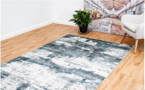 OliandOla New Designer Durable Floor Area Carpet CANNON 8306 Winter Fog Rug