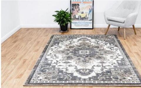 OliandOla New Designer Durable Floor Area Carpet CANNON 8312 Cream Grey Rug
