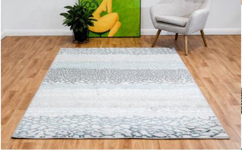 OliandOla New Designer Durable Floor Area Carpet CANNON 8327 Grey Pail Rug