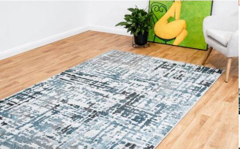 OliandOla New Designer Durable Floor Area Carpet CANNON 8328 Grey Pail Rug