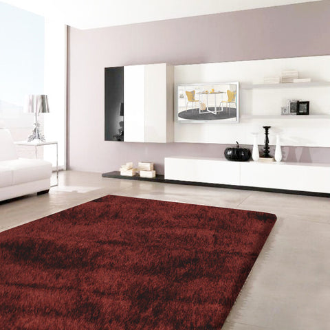 Stylish Super Soft Shaggy Rug in Dark Brown