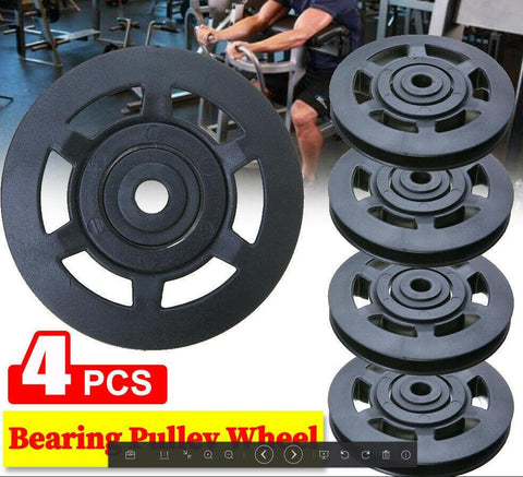 4PCS Bearing Pulley Wheel 95mm Wearproof Gym Fitness Equipment Part Universal AU