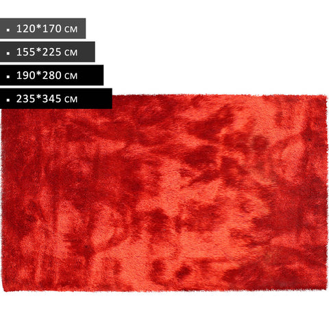 Red - Modern Soft Thick Shaggy Non Shed Rugs