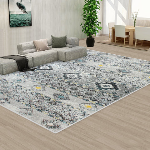 Grey Style Pattern Floor Area Abstract Rug Modern Large Carpet