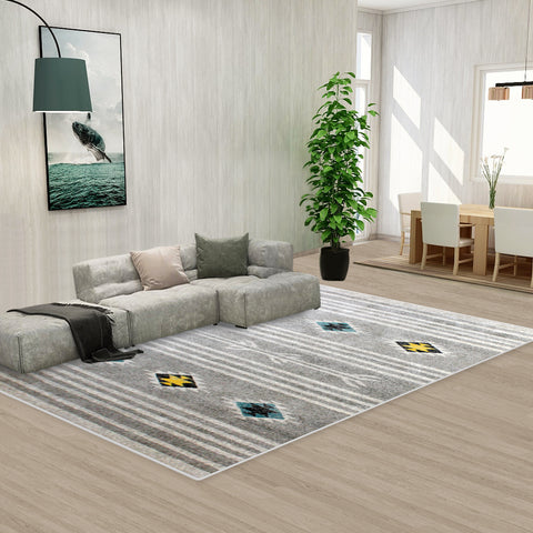 Grey Black Style Pattern Floor Area Abstract Rug Modern Large Carpet
