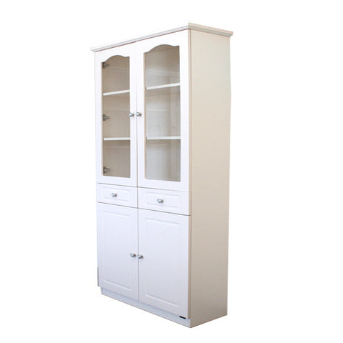 French Glass Display Cabinet Beige - 2 Door