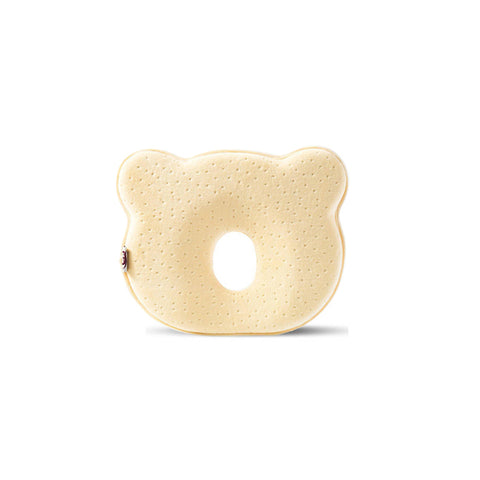1x Yellow Bear Baby Infant Newborn Memory Foam Pillow
