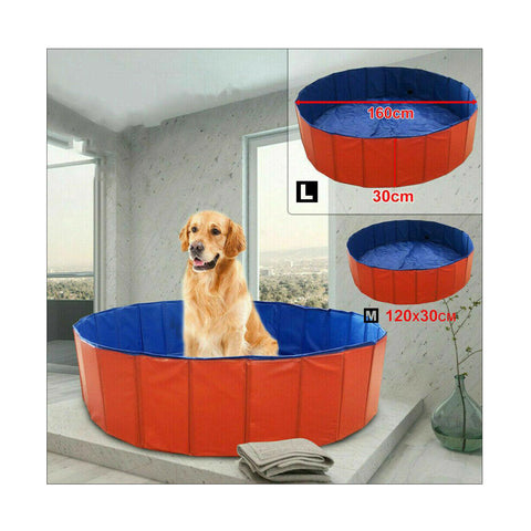 Portable Folding Pet Swimming Pool Dog Cat Bath Animal Washing Au Stock