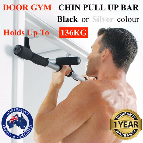 Portable Heavy Duty Chin Up Pull Up Bar Door Gym Doorway Exercise Workout